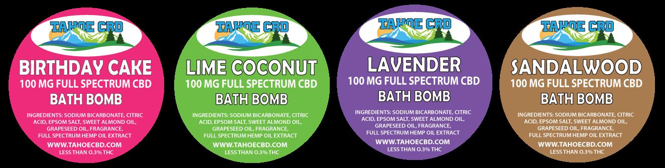 Tahoe CBD Bath Bombs